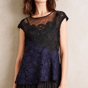NWT ANTHROPOLOGIE Deletta Garden Guise Lace Blouse